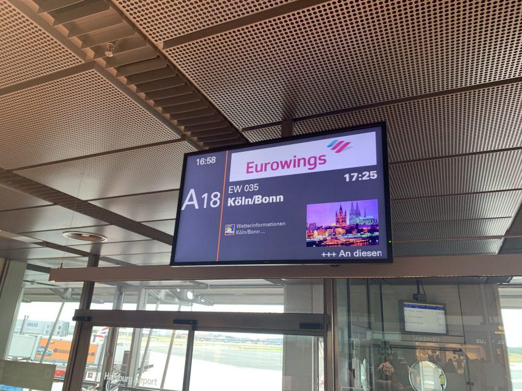 Mit Eurowings von Hamburg nach Köln/Bonn