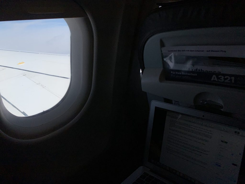 Lufthansa Hamburg nach München in der Economy Class