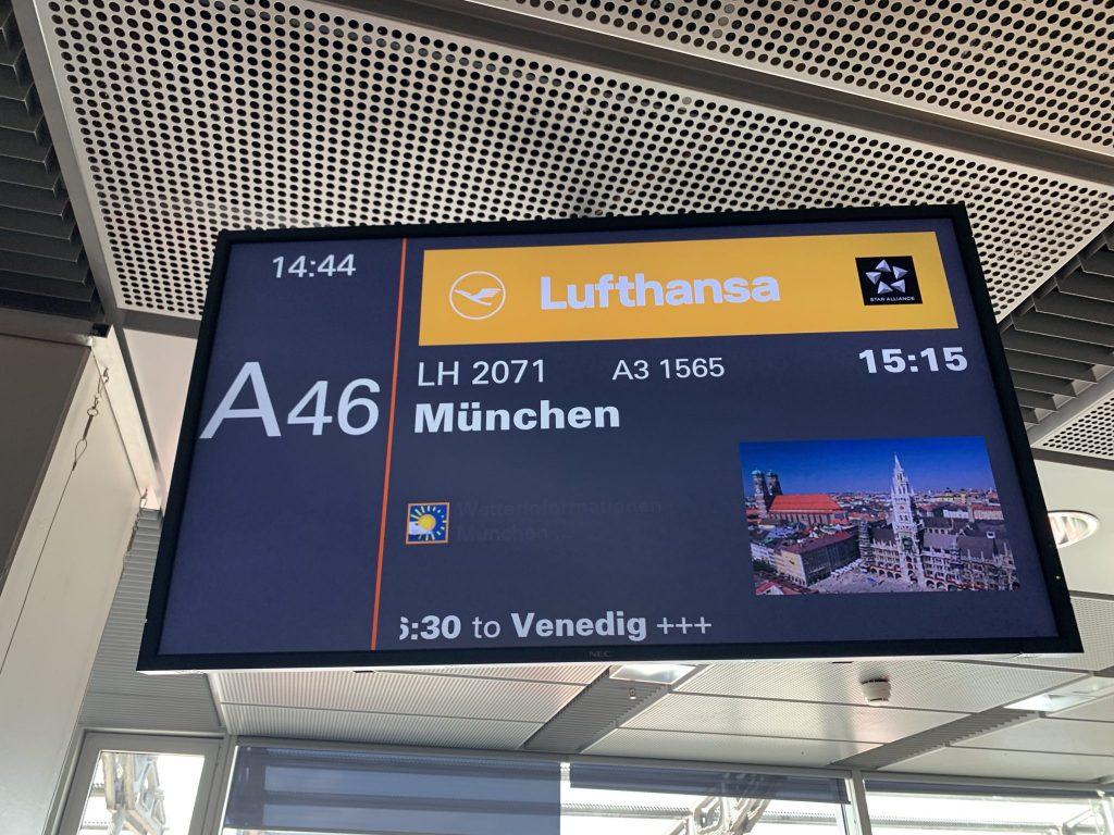 Lufthansa Hamburg nach München