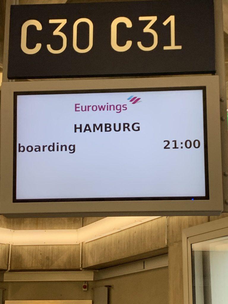 Eurowings von Köln nach Hamburg