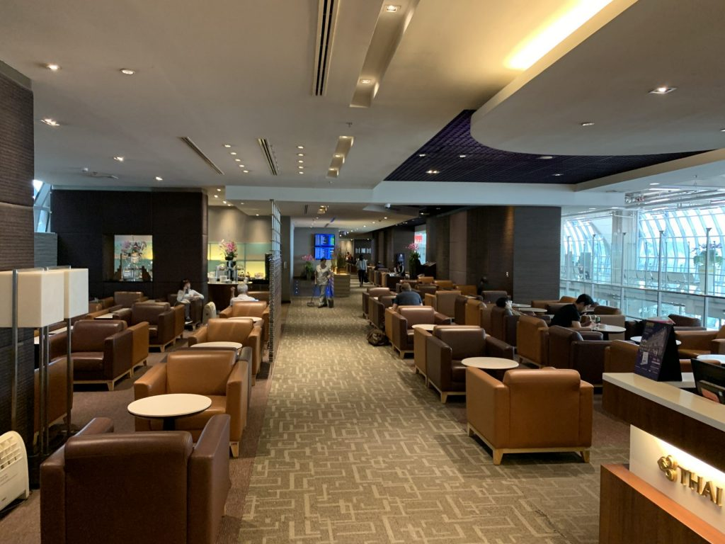 Thai Airways Royal Silk Lounge in Bangkok