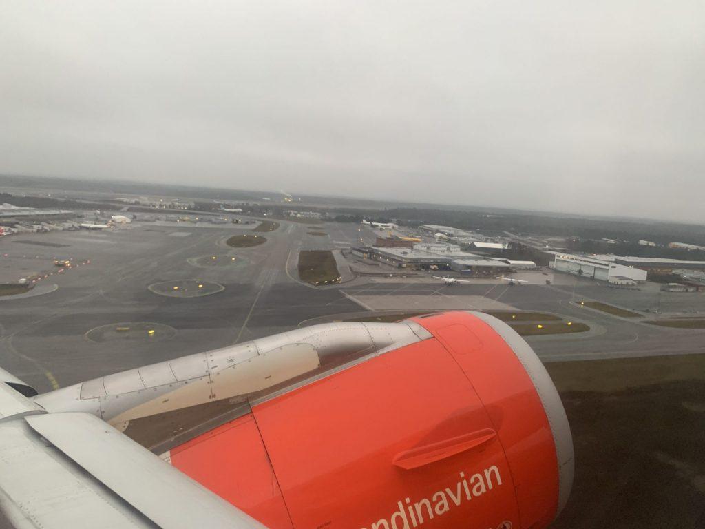 SAS A320 von Stockholm nach Oslo