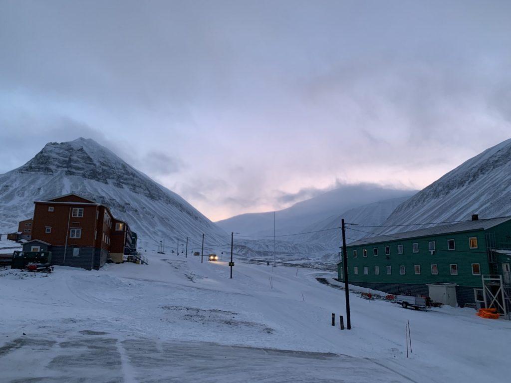 Coal Miners Cabins Hotel in Spitzbergen