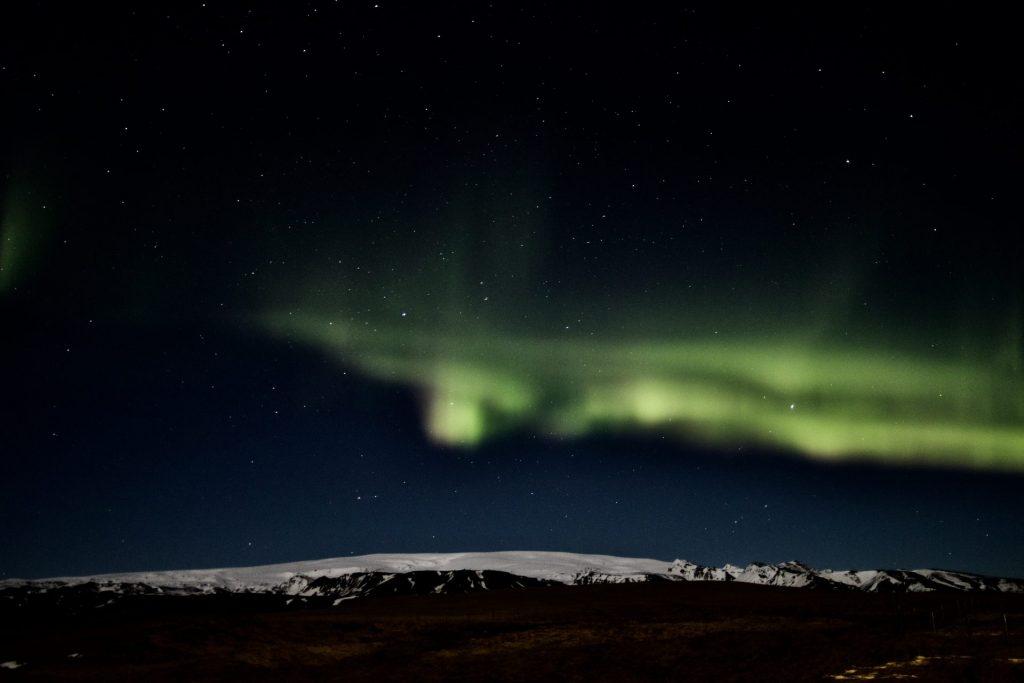 Nordlichter im Süden Islands