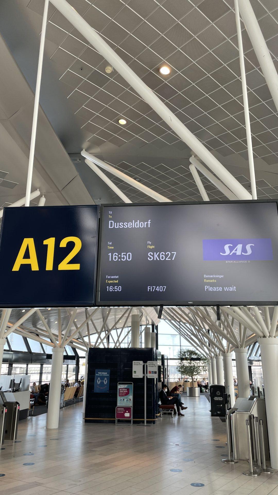 SAS von Kopenhagen nach Düsseldorf