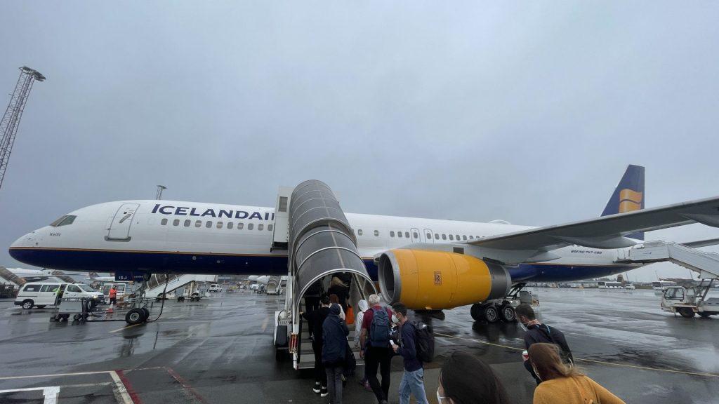 Icelandair Economy Class von Island nach Kopenhagen